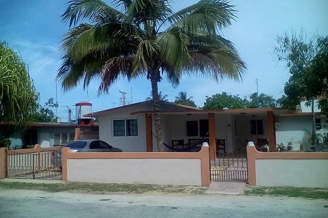 Facade at Casa 46, Playa Larga, Ciénaga de Zapata, Matanzas, Cuba