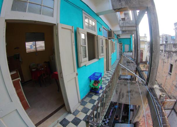 Corridor at Casa Don Miguel, Old Havana, Havana, Cubauel, Habana Vieja, La Habana, Cuba
