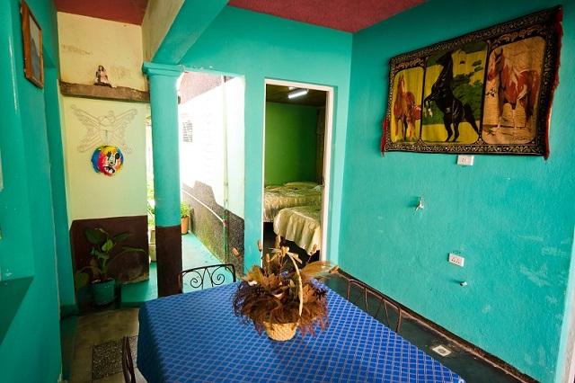 Sala comedor en Casa de Griselda y Reinaldo, Viñales, Pinar del Río, Cuba