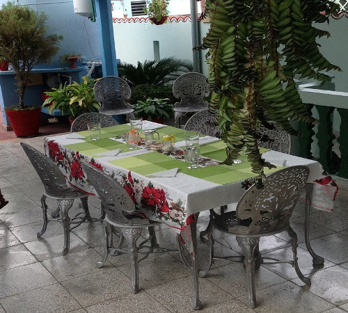 Terraza en Hostal Yuliet y Ariel, Cienfuegos, Cuba