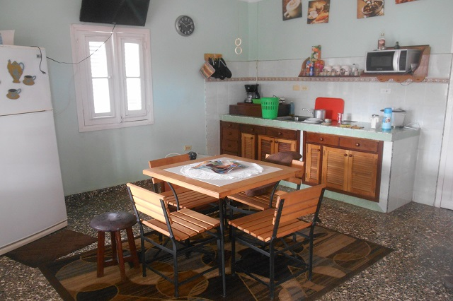 Kitchen and dining room at Villa Apolonio, Miramar, La Habana, Cuba
