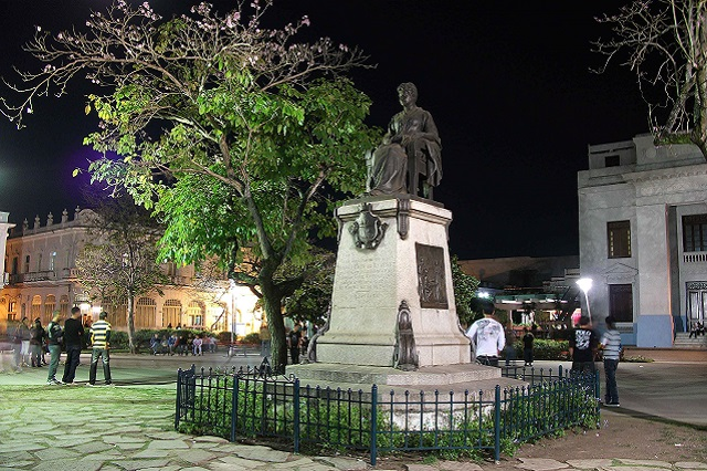 Statue of Martha Abreu, close to Hostal Aliana, Santa Clara, Villa Clara Cuba