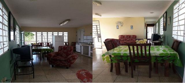 Casa Lourdes, Guanabo, La Habana, Cuba. Sala y comedor.