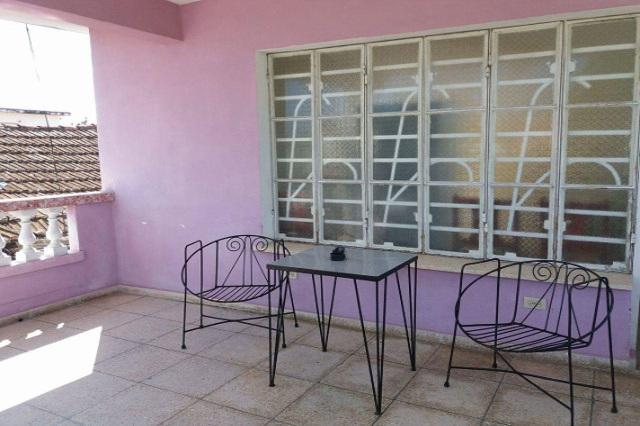 Casa Lourdes, Guanabo, La Habana, Cuba. Terraza.